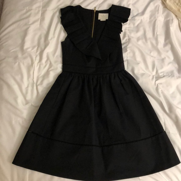 9cf07a7d9ab kate spade Dresses   Skirts - Kate spade black ruffle neck dress